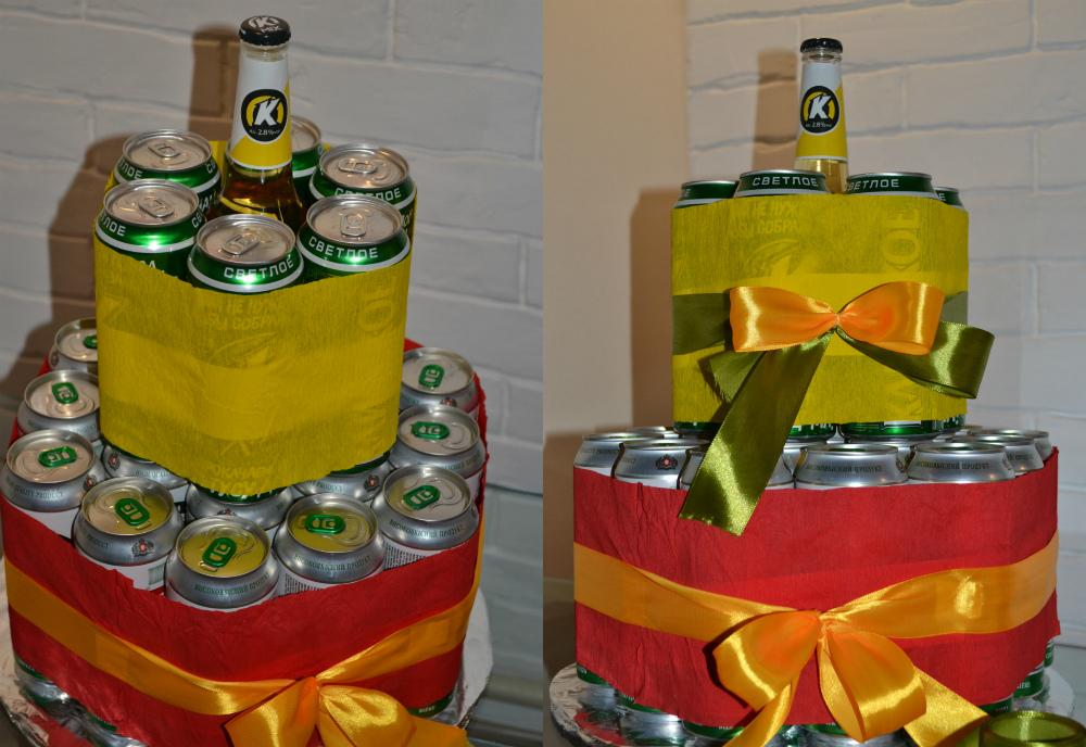 Торт из пива в банках фото пошагово