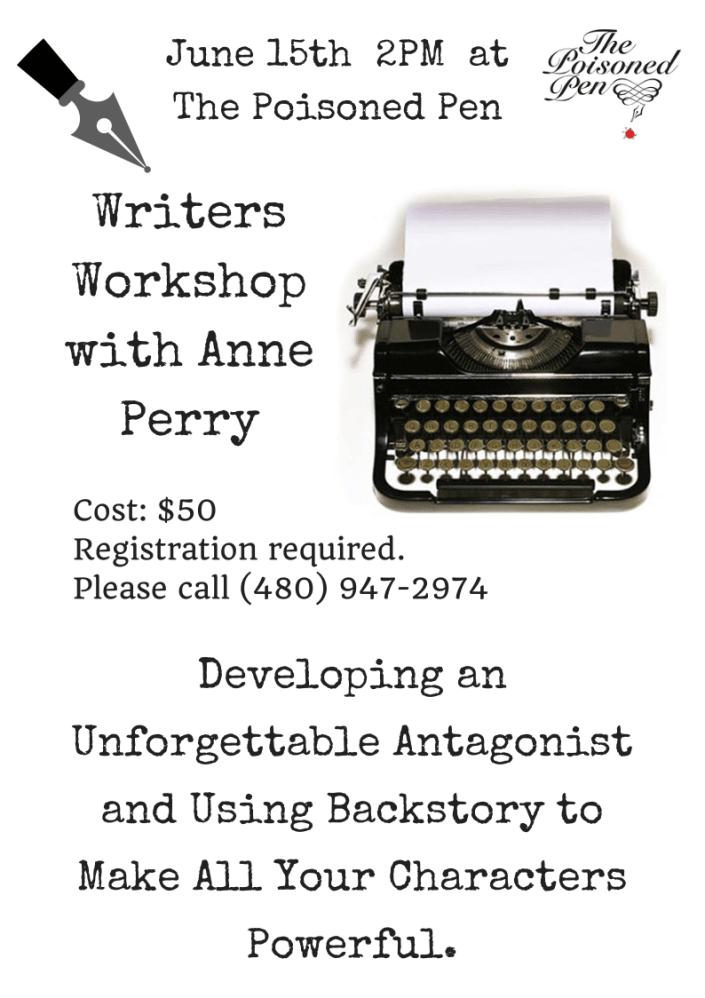 Anne Perry Writers workshop