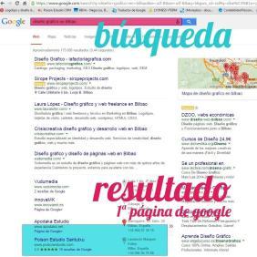 ejemplo de posicionamiento web en Bilbao de poison estudio