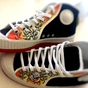 """zapatillas """"cebo"""" personalizadas """"buda"""""""