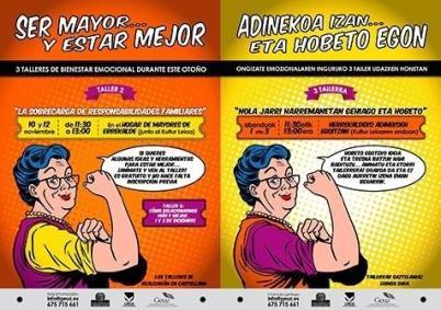 cartel para taller de personas mayores