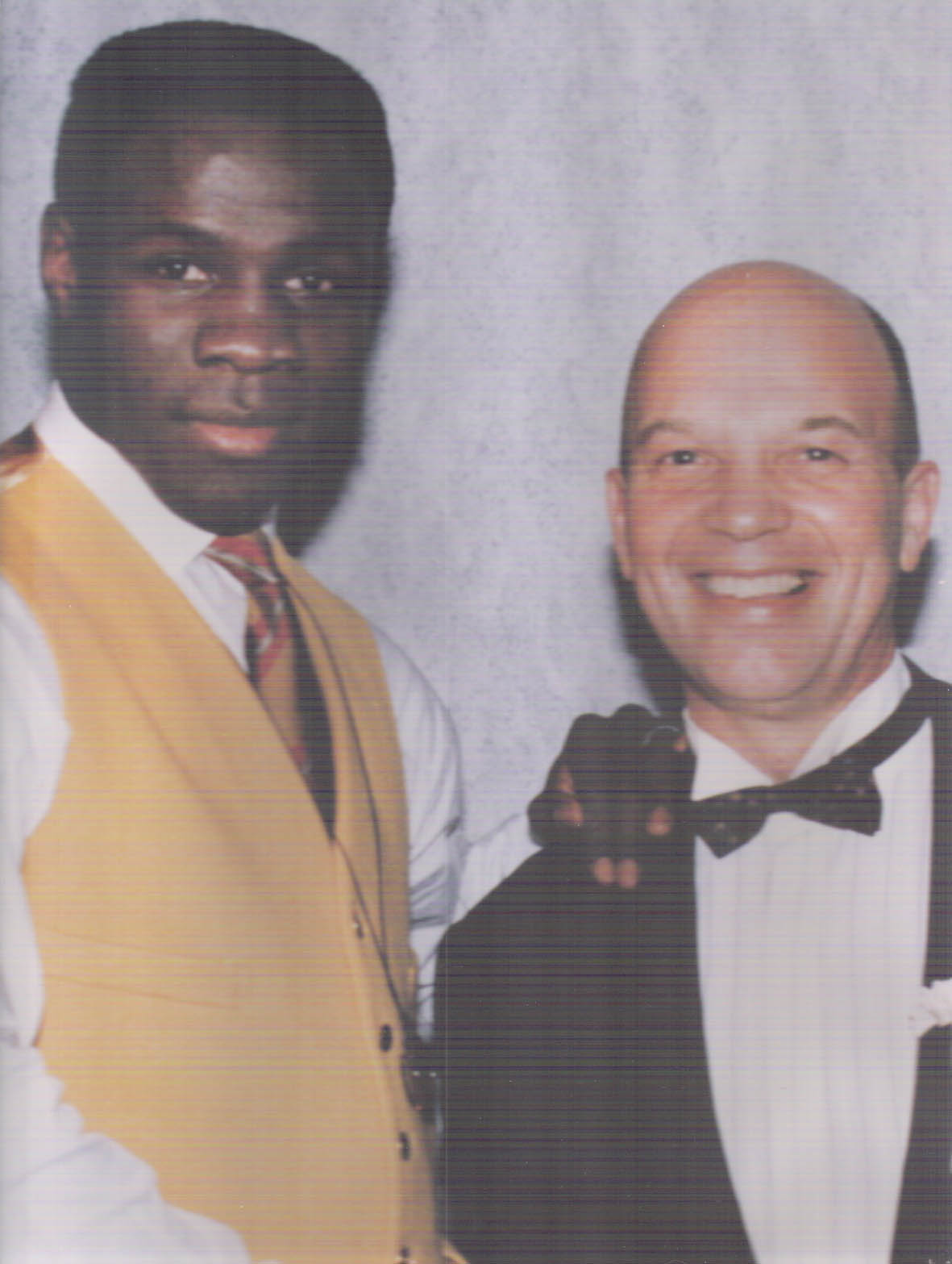 Gerry in his element as sports reporter with boxer Chris Eubank