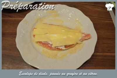 PREPARATION_4_Escalope de dinde pannée au gruyère et au citron