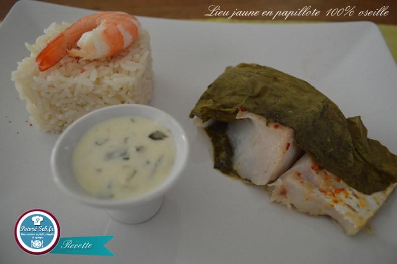 Papillote_naturelle de_lieu_jaune_Présentation