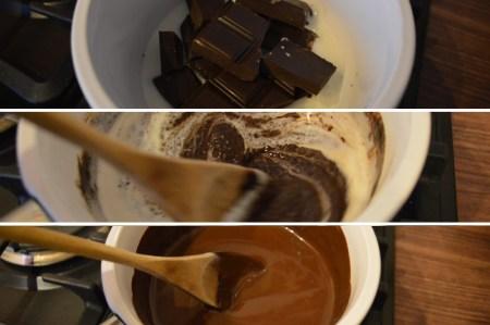 Dessert_poire_Chocolat_préparation