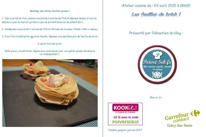 Atelier cuisine Poivré Seb première édition.