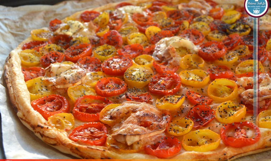 Tarte ensoleillée de tomates cerises