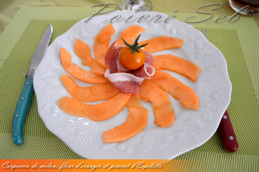 Carpaccio de Melon_Piment_