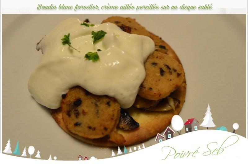 Boudin blanc forestier crème aillée persillée 2