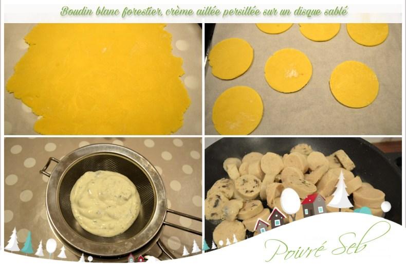Boudin blanc forestier crème aillée persillée - Préparation 2