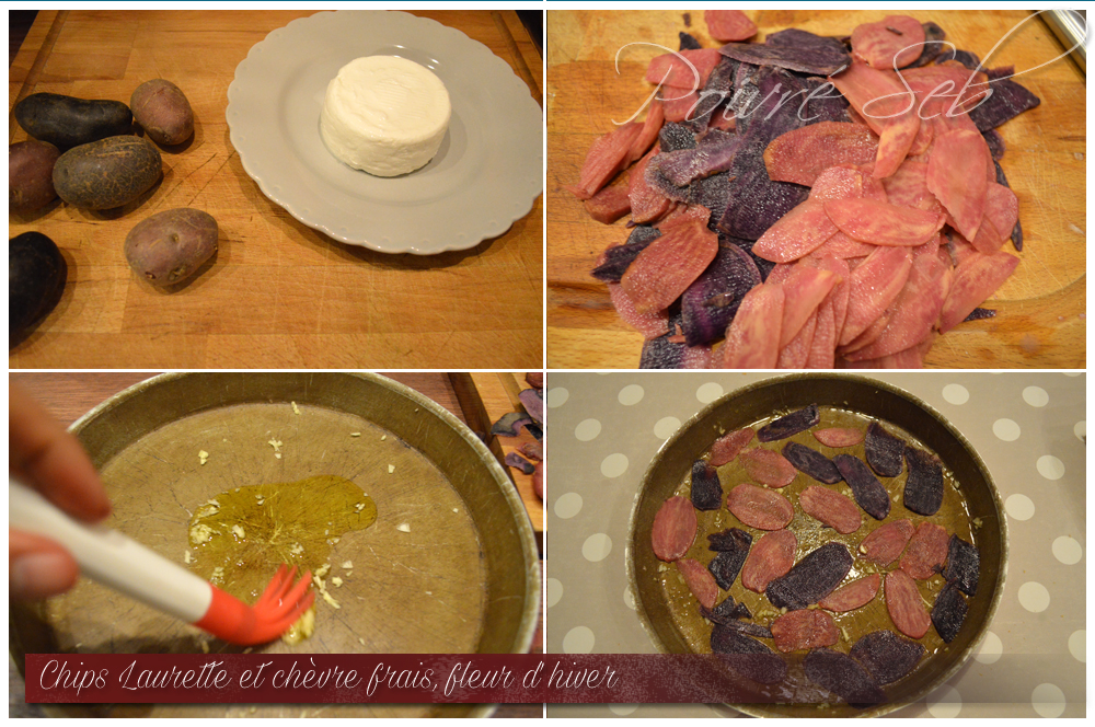 Chips Laurette chevre frais Fleur hiver Préparation 1