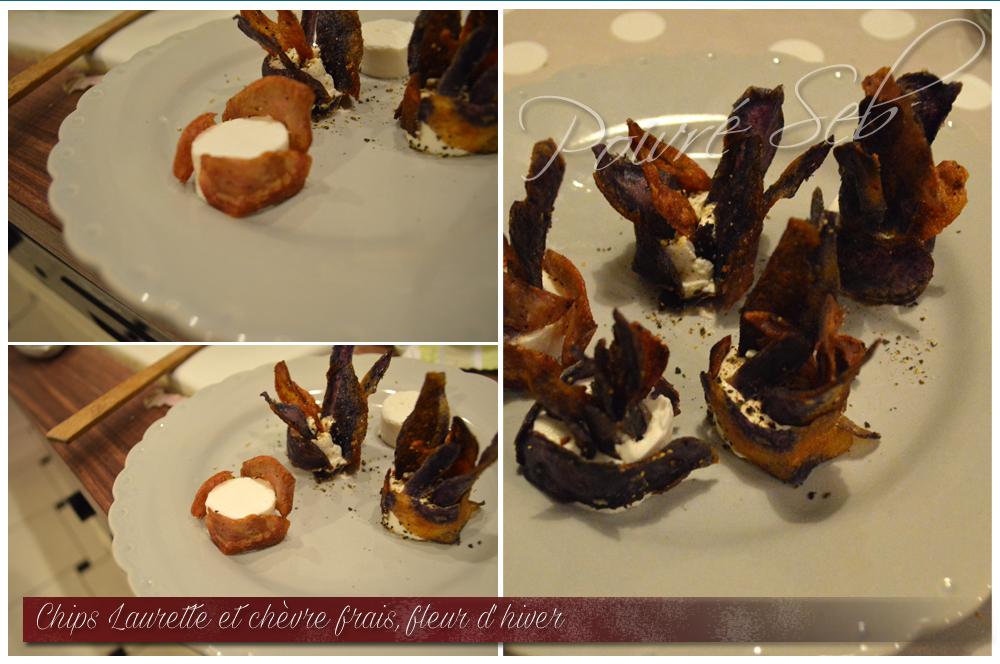 Chips Laurette chevre frais Fleur hiver Préparation 3