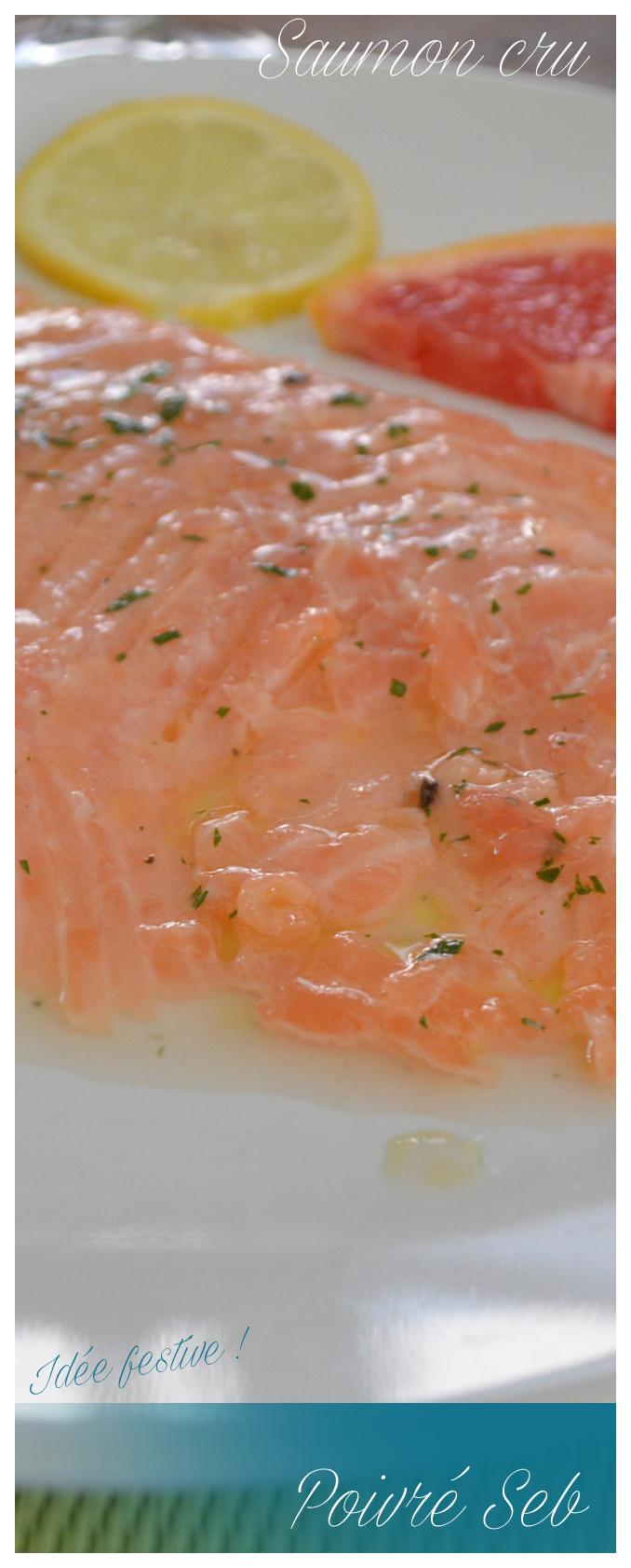 Saumon cru cuit à la marinade de pomelo-vertical
