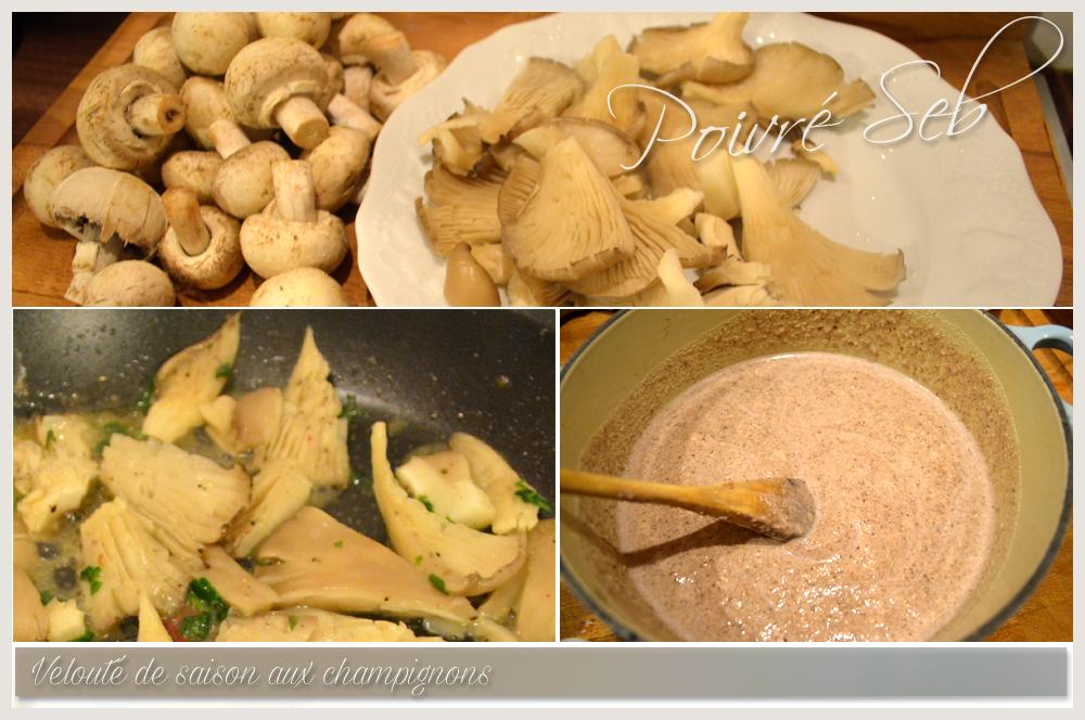 Velouté de saison aux champignons - Préparation
