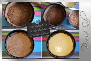 Tarte déstructurée au deux chocolats préparation mousses