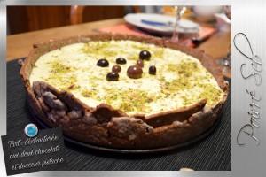 Tarte déstructurée aux deux chocolats et douceur pistache 2