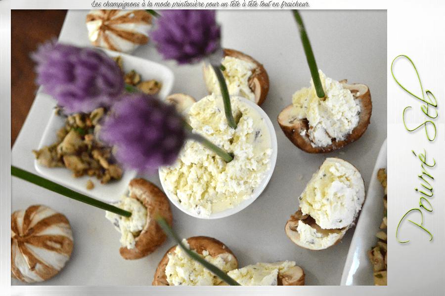 Les champignons à la mode printanière pour un tête à tête zoom