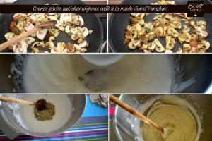 Crème glacée aux champignons cuits Sweet Pumpkin préparation