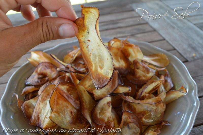 Chips aubergine sel de piment d'Espelette 2