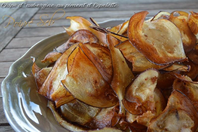 Chips aubergine sel de piment d'Espelette Présentation