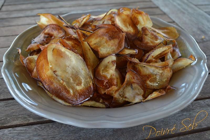 Chips aubergine sel de piment d'Espelette