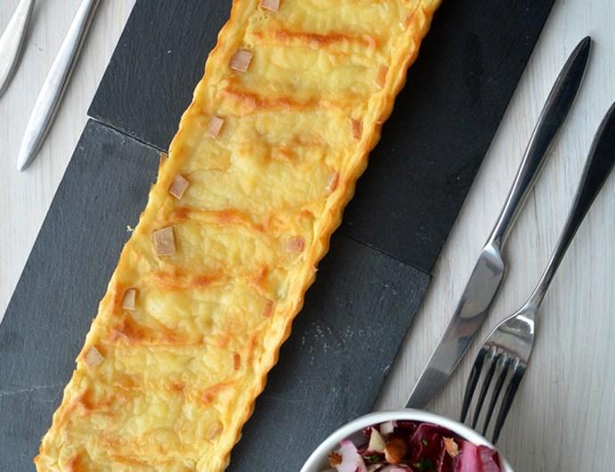 Tarte aux pommes de terre et fromage à raclette