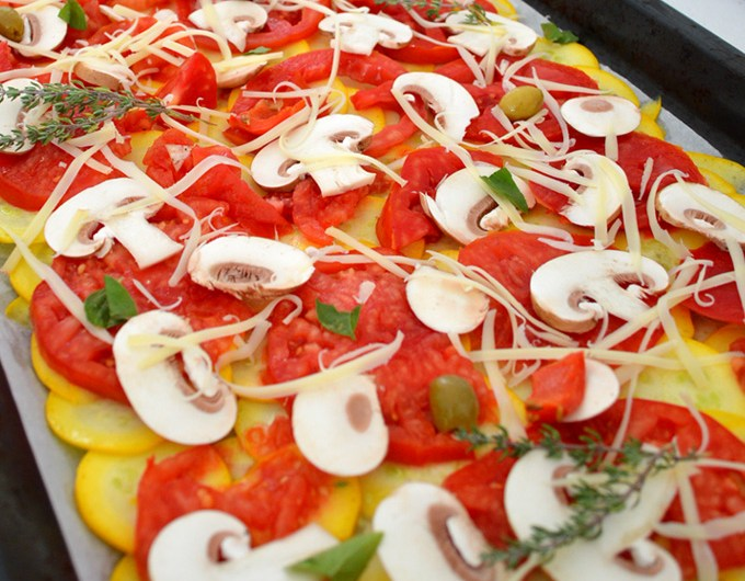 Derniers légumes d'été, effet pizza