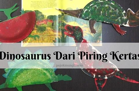 DIY, craft, dinosaurus, piring kertas, kegiatan anak