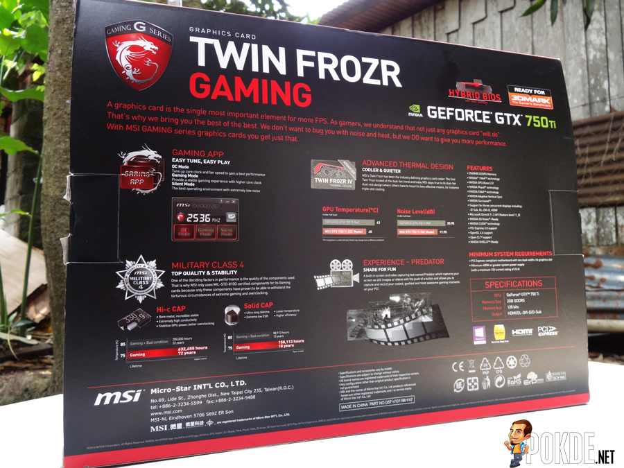 MSI GTX 750 TI GAMING TWIN FROZR OC REVIEW – Pokde