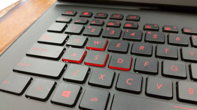 Yes, we are serious about gaming here! WASD keys highlighted in red sides!