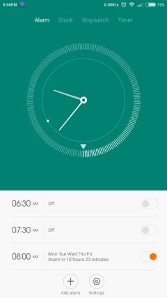 Mi4i alarm