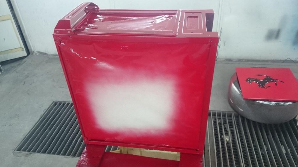 Rosso Corsa layer sprayed