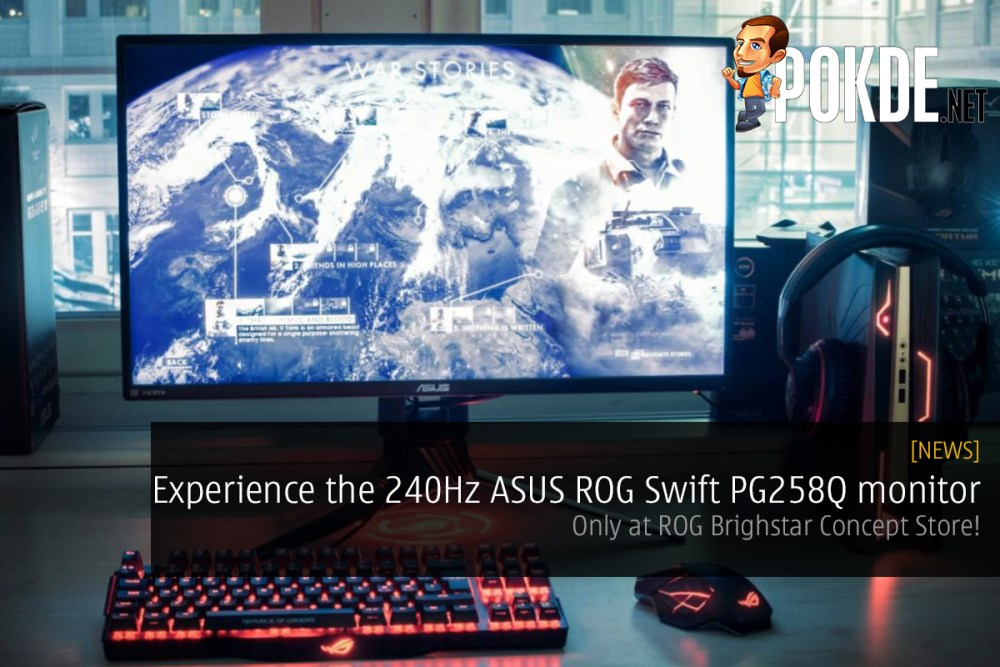 Experience the 240Hz ASUS ROG Swift PG258Q monitor at ROG