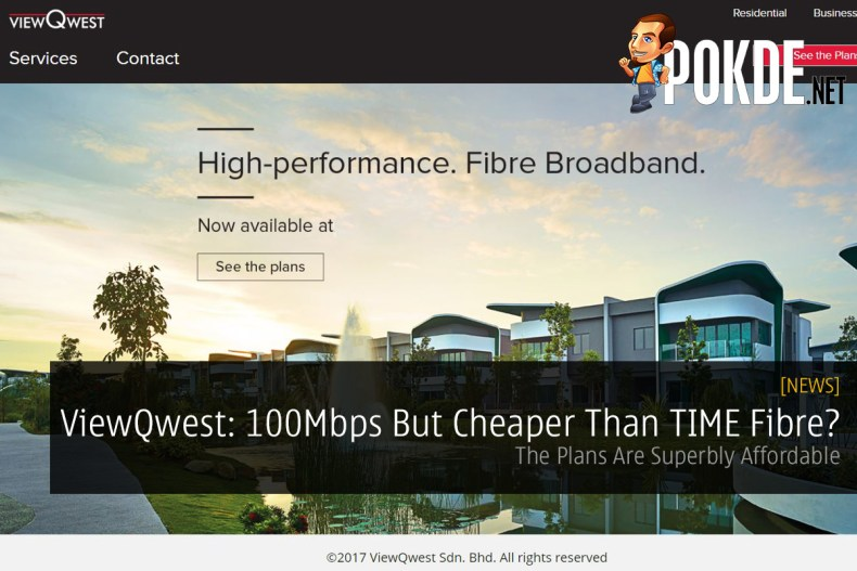 ViewQwest: 100Mbps But Cheaper Than TIME Fibre?