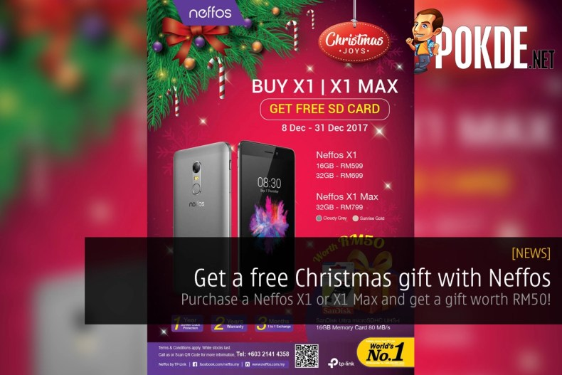 get a free christmas gift with neffos purchase a neffos x1 or x1 max and get a gift worth rm50