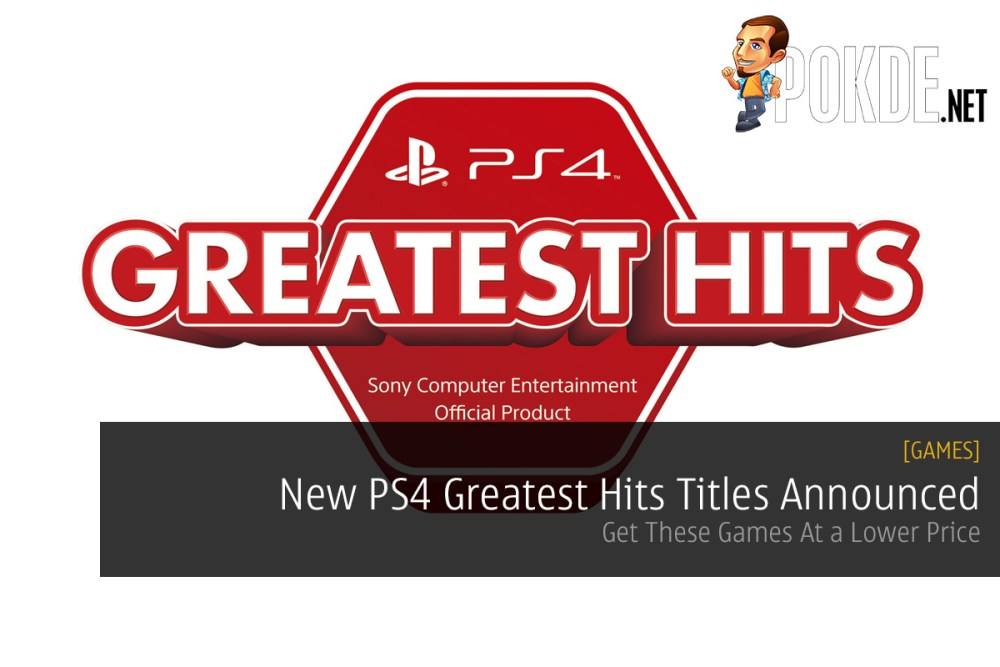 New PS4 Greatest Hits Titles Announced