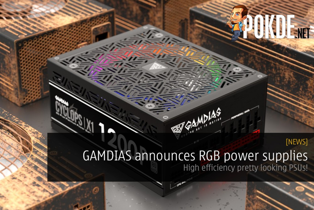 GAMDIAS announces RGB power supplies — high efficiency pretty