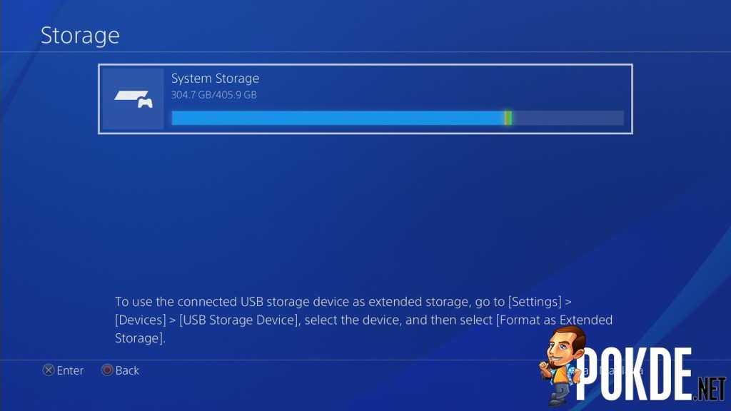 ps4 connect usb storage device