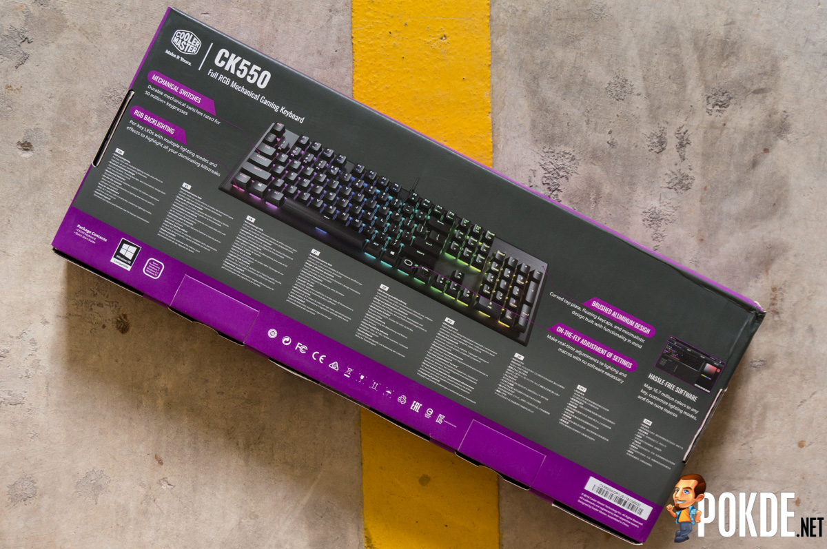 Cooler Master CK550 RGB Mechanical Keyboard Review — smooth strokes