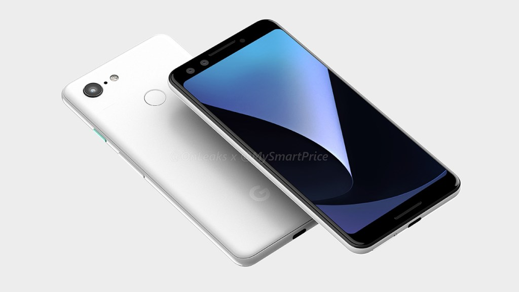 The Pixel 3XL is a top-notch device too — leaked design renders reveal entirety of the Pixel 3 devices 25