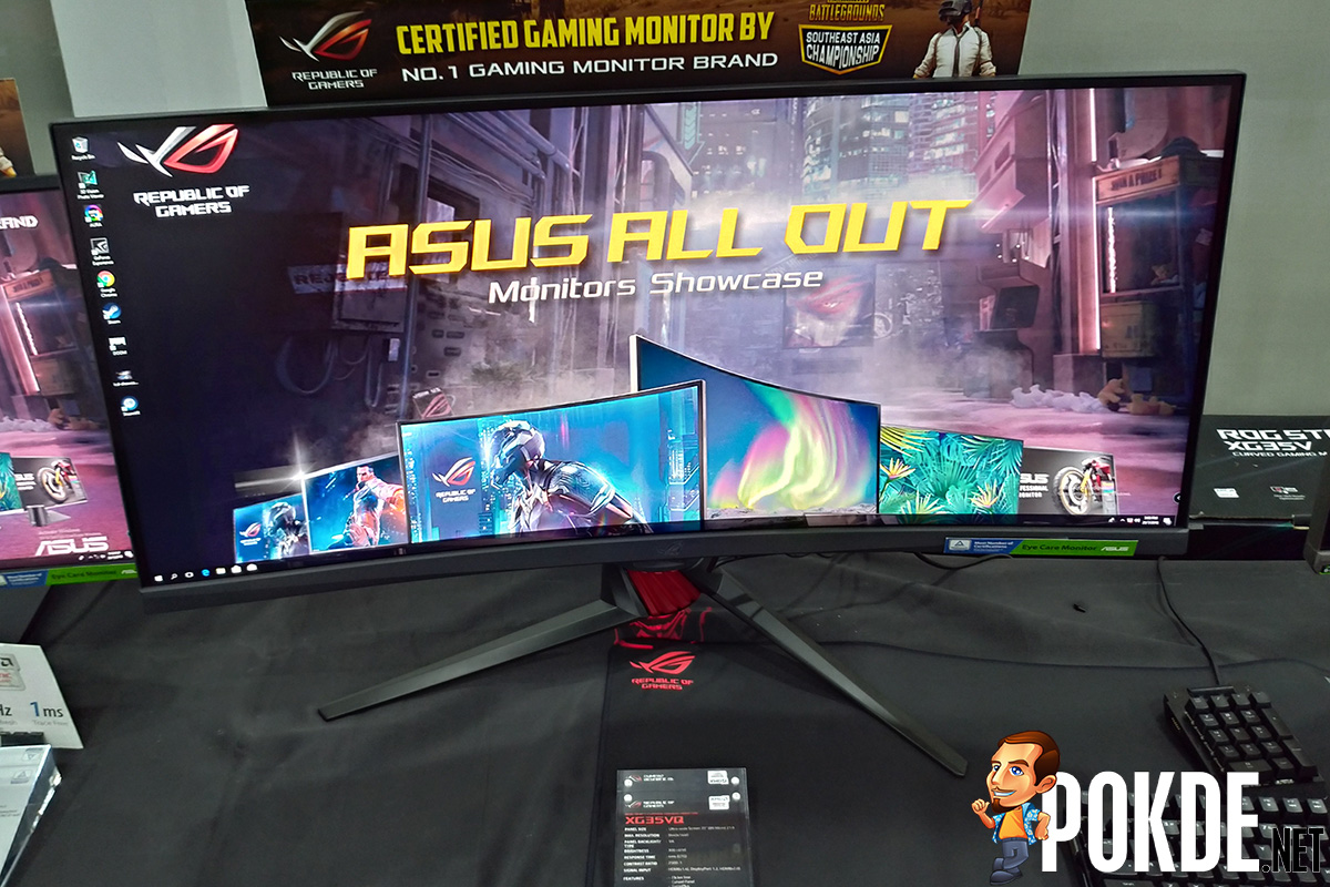 Asus Showcases Their Latest Gaming Monitor Lineup Including The 1 Set Pc We