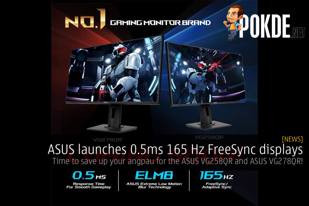 ASUS launches 0 5ms 165 Hz FreeSync displays — time to save