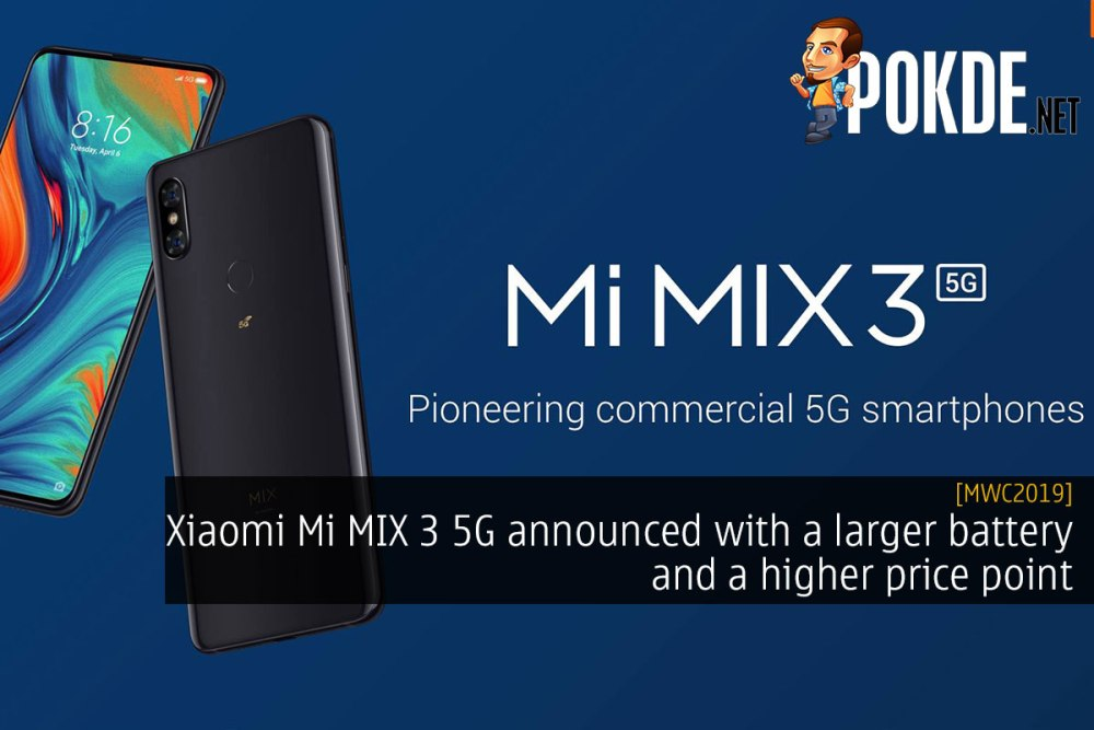 [MWC2019] Xiaomi Mi MIX 3 5G announced with a larger battery and a higher price point 30