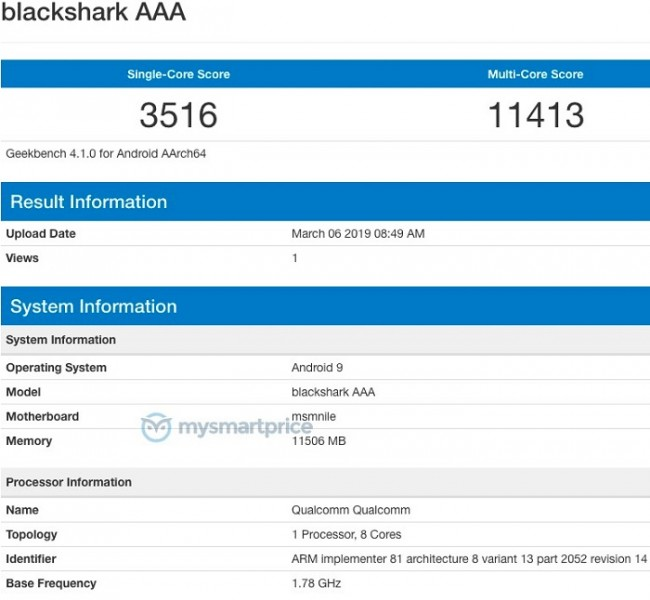Black Shark 2 Listed On Geekbench — Coming With Latest Snapdragon 855 With 12GB RAM 23