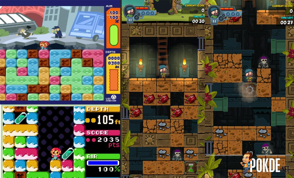 Mobile Game Comparison with Mr. Driller