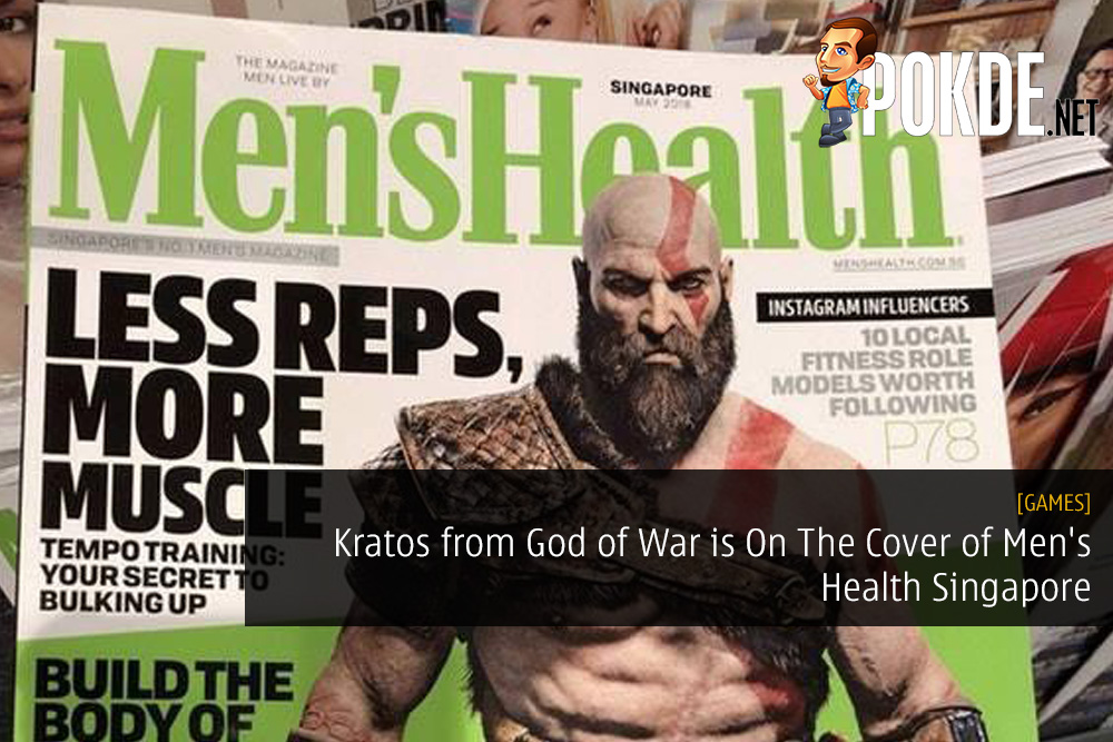 Kratos from God of War is On The Cover of Men's Health Singapore