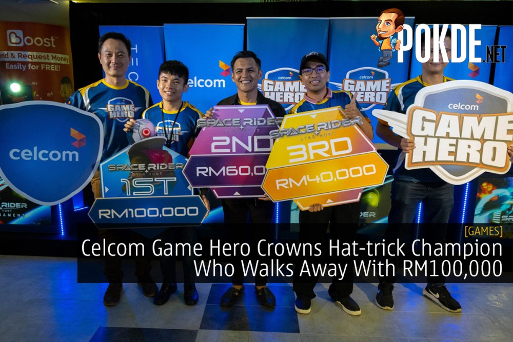 Celcom Game Hero Crowns Hat-trick Champion Who Walks Away With RM100