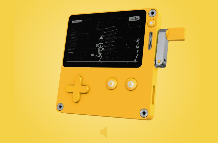 The Playdate is a Pocket-sized Handheld Game System With a Crank