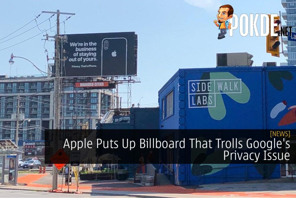 Apple Puts Up Billboard That Trolls Google's Privacy Issue 26