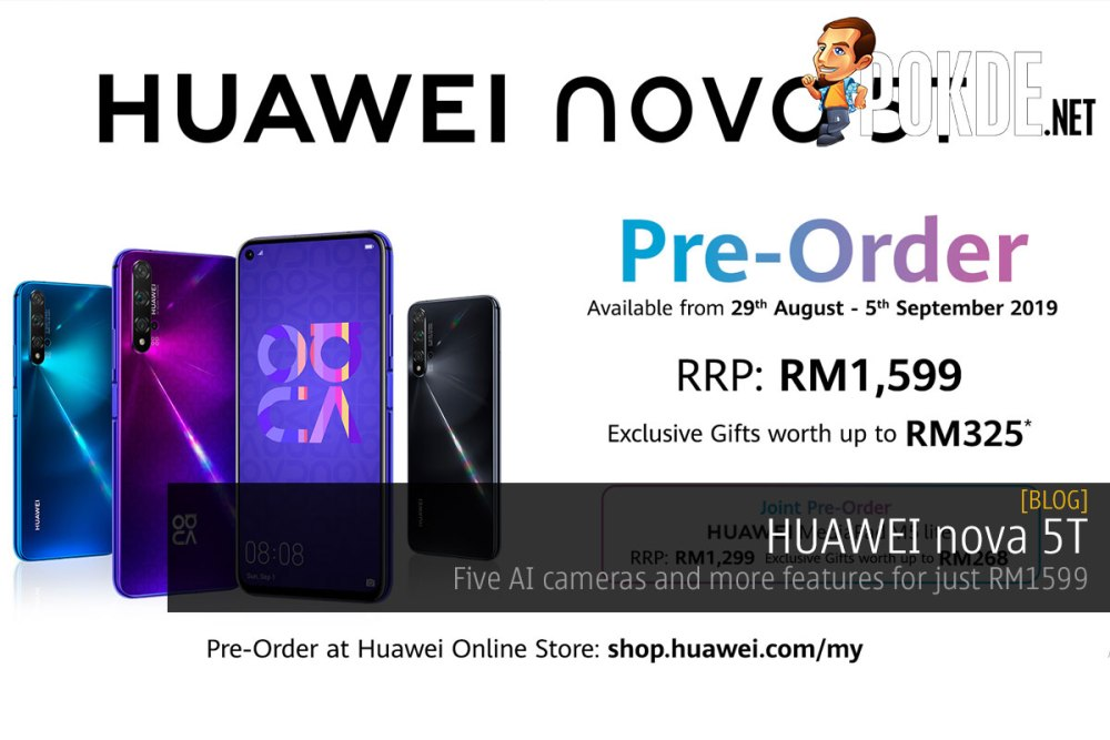 Huawei Nova 5t Five Ai Cameras And More Features For Just